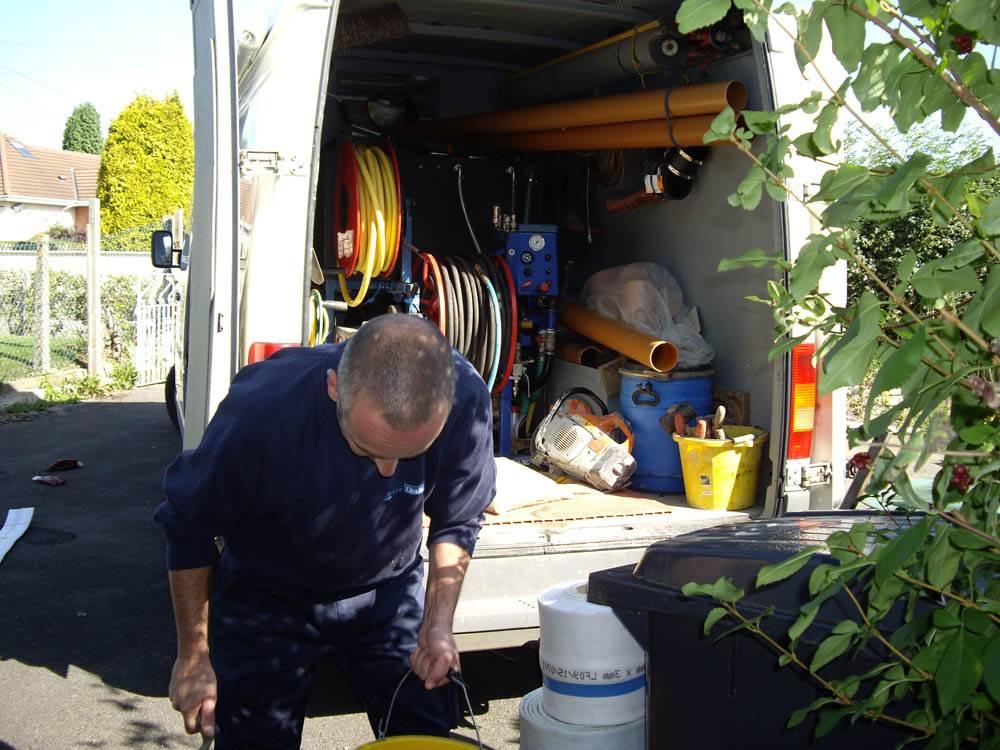 lining being taken out of van
